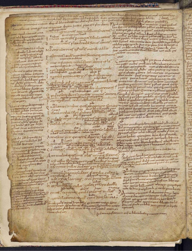 ca 90% of the margin filled with annotations in Leiden, UB, VLQ 18, fol. 3v